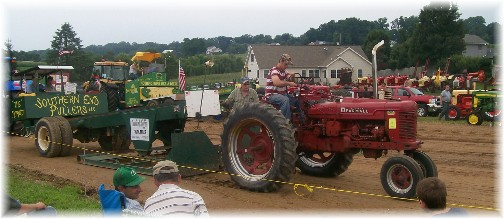 Tractor pulling at the Northwest Lancaster County Antique Tractor Expo 8/13/11