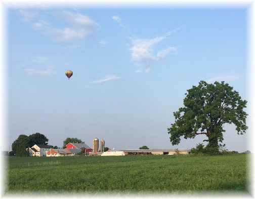 Balloon over Lancaster County farm 6/14/17 (Click to enlarge)