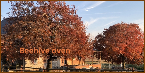 Beehive oven on stone farmhouse