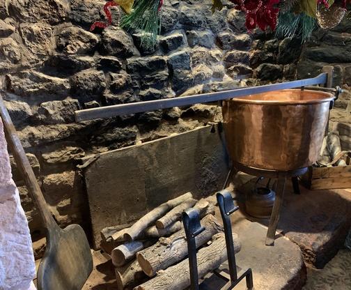 Brickerville Restaurant fireplace
