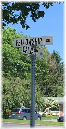 The junction of Calvary and Fellowship, Lancaster, PA