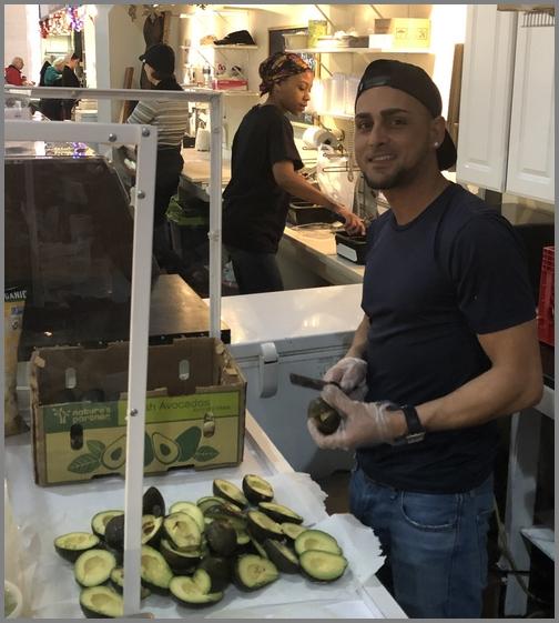 Lancaster Central Market guacamole man 12/21/18