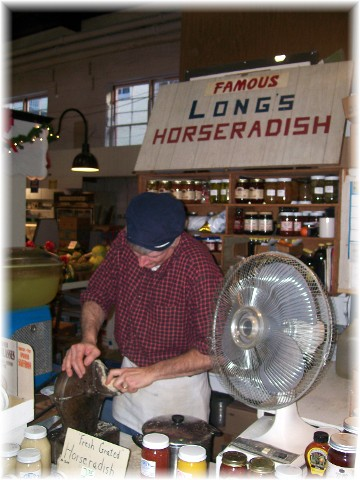 Long's horseradish in Central Market, Lancaster PA