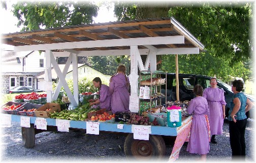 Colebrook Road Produce Stand in Lancaster County, PA