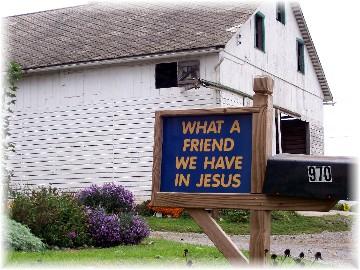 Witness sign on Colebrook Road near Mount Joy, Pennsylvania