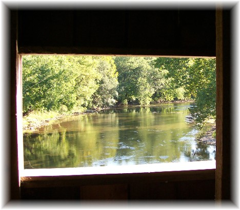 Window from Hunsecker's Mill covered bridge, Lancaster County, PA