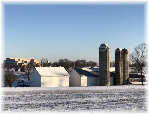 Edisonville Road farm, Lancaster County, PA 1/18/18 (Click to enlarge)