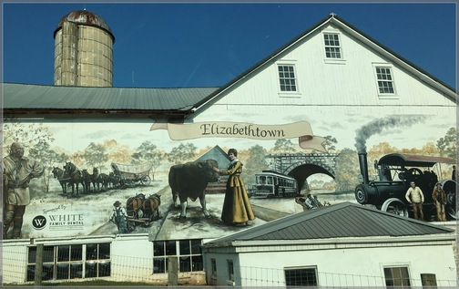 Elizabethtown barn art, Lancaster County 9/19/18 (Click to enlarge)
