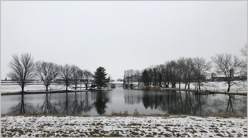 Farm pond along 283 3/3/19 (Click to enlarge)