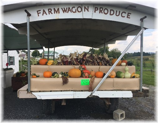 Farmwagon Produce Stand, Weaverland Road 9/14/17