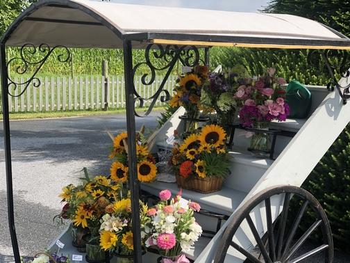 Lancaster County fresh flower cart