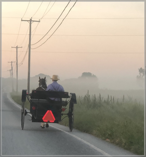 Foggy Lancaster County morning 9/6/18