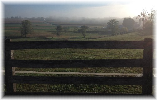 Foggy morning in Lancaster County PA 10/2/14