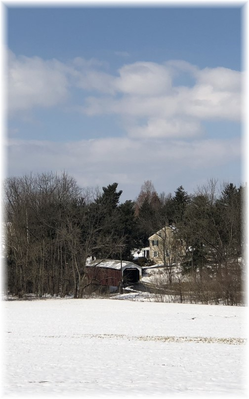 Forry's Mill Covered Bridge 2/18/18 (Click to enlarge)