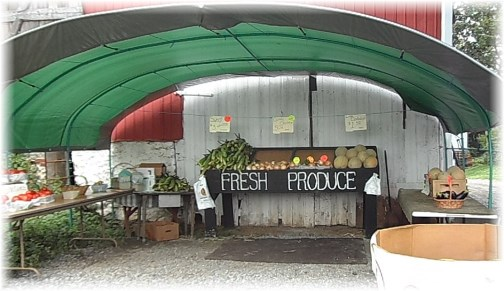 Lancaster County produce stand