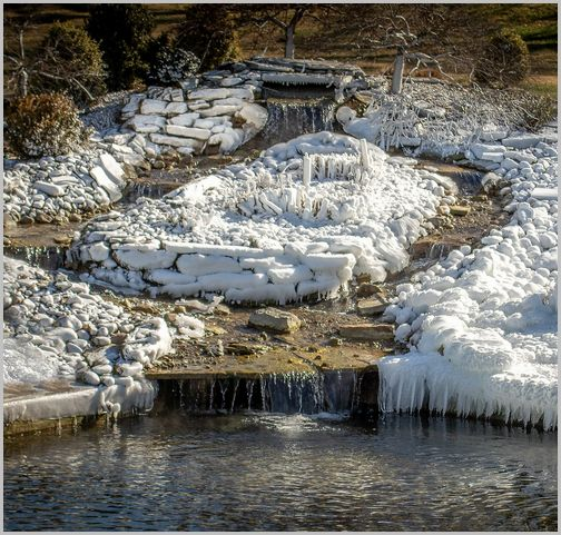 Frozen water feature (Photo by John Thomas)
