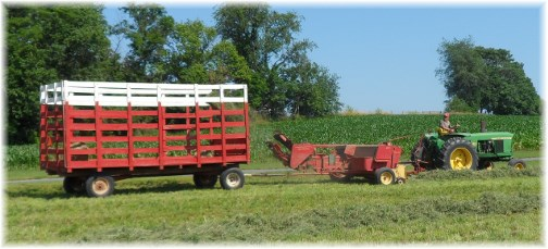 Lancaster County PA hay harvest 6/21/13