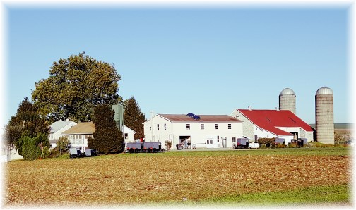 Amish farm on Hollander Road near Intercourse, PA 10/19/17 (Click to enlarge)
