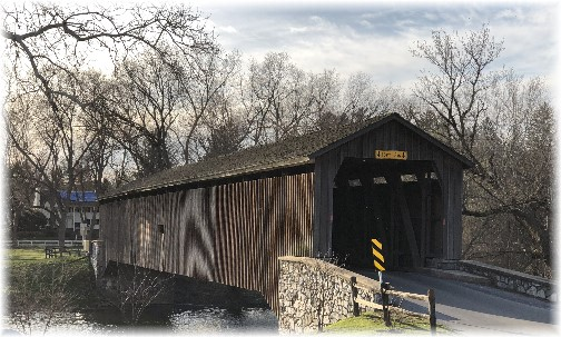Hunsecker's Mill Covered Bridge 4/1/18