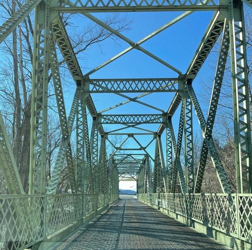 Iron bridge over Conestoga River