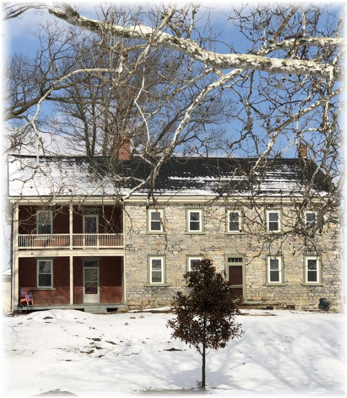 Kraybill Church Road farmhouse 2/18/18 (Click to enlarge)