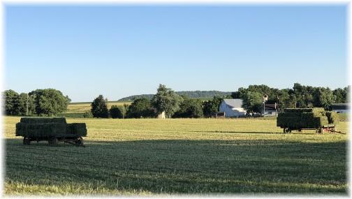 Hay harvest on Kraybill Church Road 6/15/18