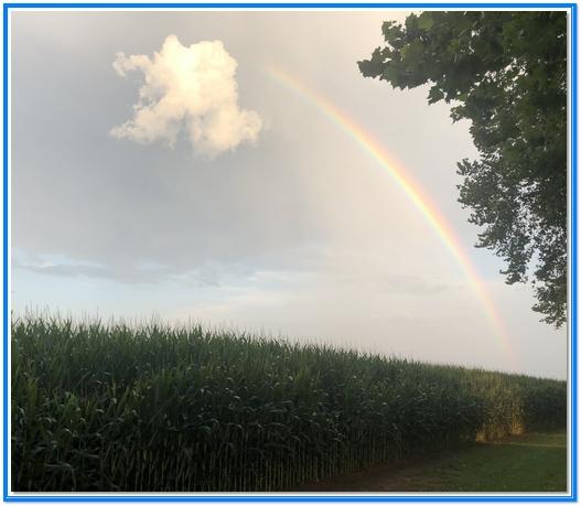 Kraybill Church Road rainbow 8/6/19