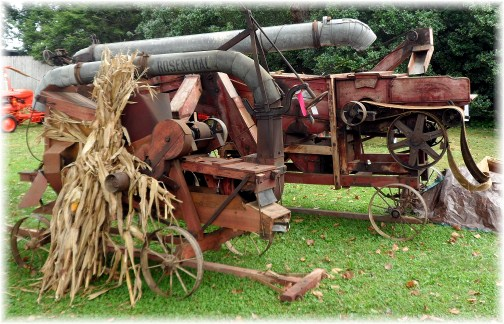 Old threshing machine at Lampeter Fair 2012