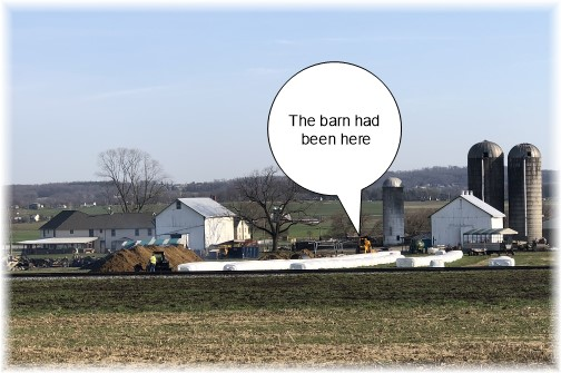 Lancaster County barn fire scene 4/12/18
