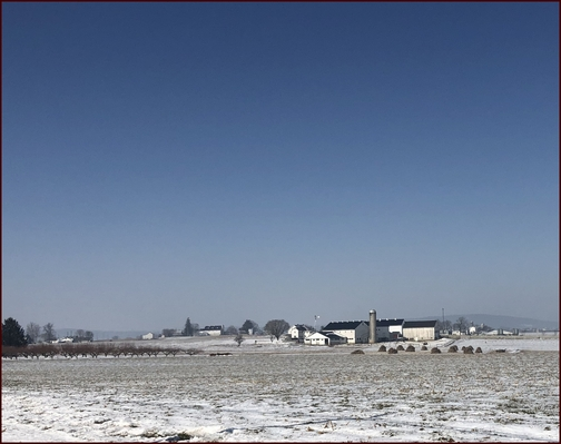 Lancaster County farm view 2/21/19 (Click on photo to enlarge)