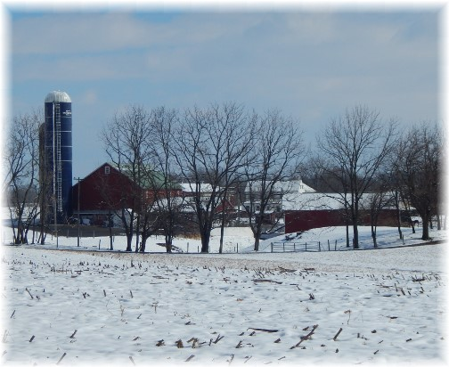 Lancaster County farm in snow 2/18/18 (Click to enlarge)