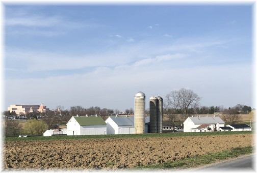 Lancaster County farm scene 4/12/18 (Click to enlarge)