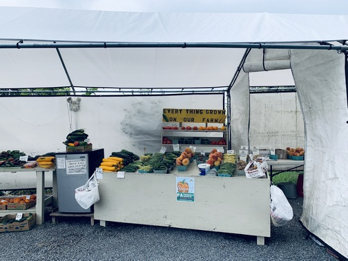 New Holland, PA produce stand 8/15/19