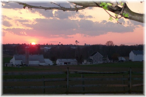Lancaster County sunset 3/13/12