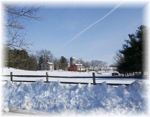 Lancaster County farm in snow 1/31/16