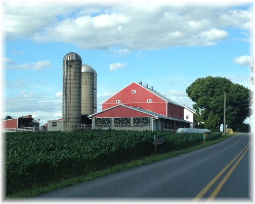 Lancaster County, PA farm with red barn 7/4/14