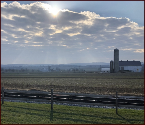 Lancaster County country scene 12/13/18 (Click to enlarge)