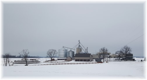 Lancaster County farm in snow 3/18/17