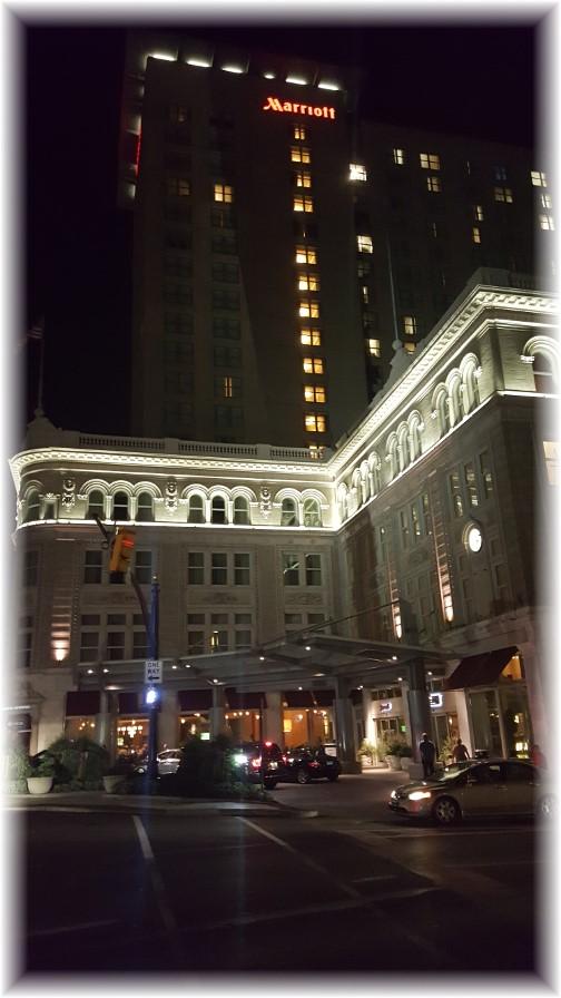 Lancaster Marriott at night 9/23/16