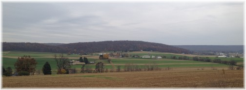 Psalm 36:5,6 with rural scene in Lancaster County, PA 11/13/14 (Click to enlarge)