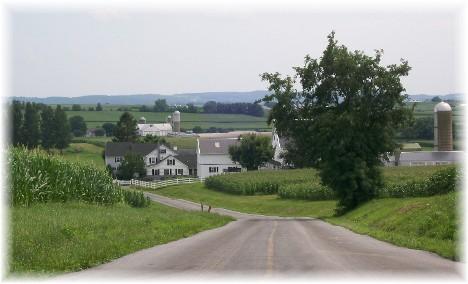 Rural scene in Lancaster County, PA 7/22/10