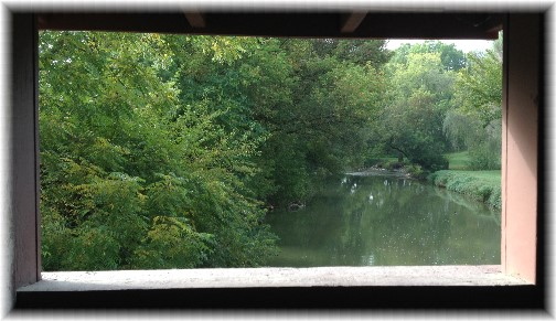Lime Valley covered bridge window 10/2/14