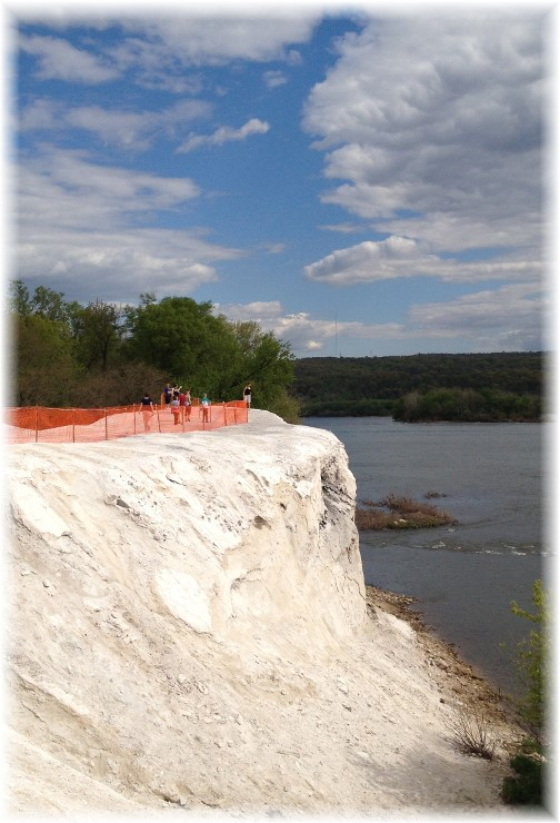 Limestone cliffs along Susquehanna River trail 5/3/15