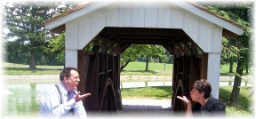 Covered Bridge on Longenecker farm in Lancaster County PA