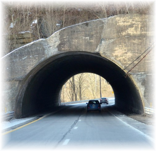 Tunnel or bridge on Rt 272 south of Lancaster, PA (photo by Doris High)