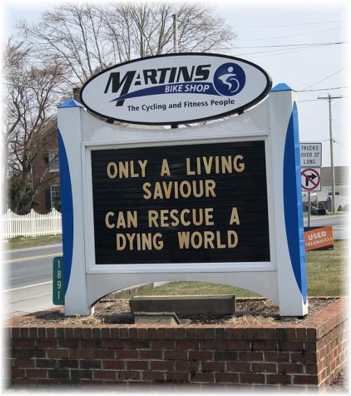 Martin's Bike shop sign