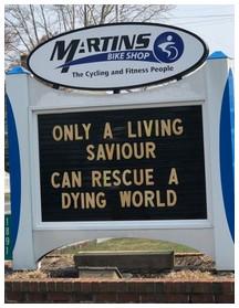 Sign at Martin's Bike Shop