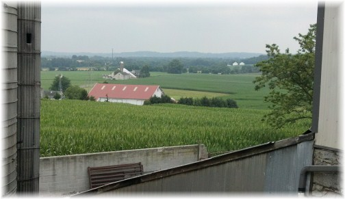 View from Martin farm in Lancaster County PA