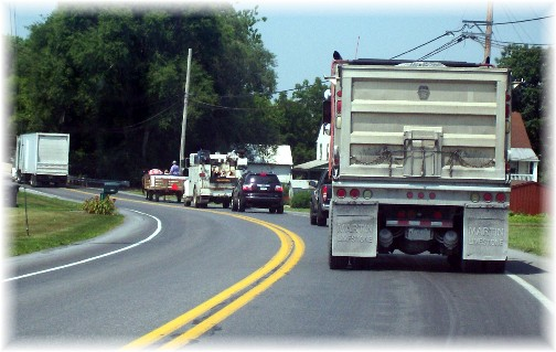 Martindale Road wagon traffic 7/7/11