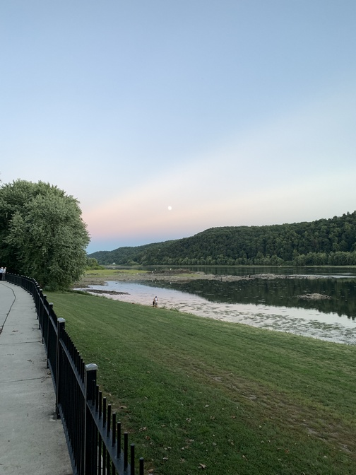 Moon over the Susquehanna River